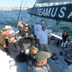 Sailing on an America's Cup entry - thrilling!