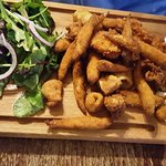 Salt and pepper calamari, coconut prawns, breaded whitebait, sweet chilli dip and lemon mayonnai