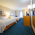 Queen/Queen Guest Room Sleeping Area