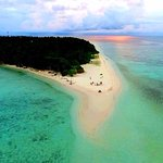 остров Омаду с квадрокоптера