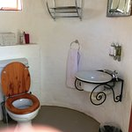 "New ""Bush Bathroom"" added to Hornbill Rondavels - a covered toilet & basin & outdoor shower"