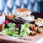 Sharing plates available at Aqua, Vegetarian, Fish & Meat