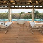 Karula Spa Wellness Centre Pool with relaxation deck