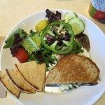 Salad / sandwich combo ( Rueben)