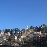 Hotel Mayur- Shimla Church- Flag in Mall> entire view from Lower Shimla Car Parking Area.