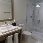 Spacious walk-in-shower in a King Collins Room