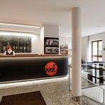 Hotelrezeption und Lobby