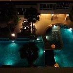 Room Overlooks Swimming Pool - Night Shot