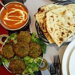 Hara kabab with naan and daal makhni