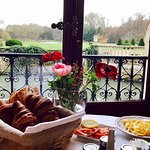 Gorgeous view from the luxurious breakfast room!