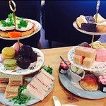 Afternoon tea. Freshly prepared cut sandwiches, scones, selection of cakes, tea or coffee £15pp