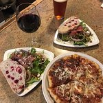 Pizza Dinner for Two special - Beverage of choice, two small salads, and a pizza to share!
