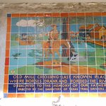 River Walk tile mural - Old Mill Crossing