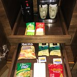Complimentary snacks and coffee in room
