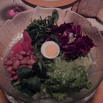 Mixed greens salad from restaurant menu