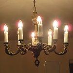 Chandelier lighting in the room