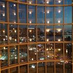 Night view from front door of room