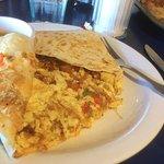 Inside my breakfast sandwich