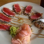 tuna appetizer - perfectly cooked and presented!