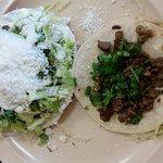 Beef Tostada & Beef Taco
