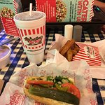 Great burger and the best Chicago style dog I have had
