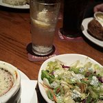 Onion Soup  and the Blue Cheese Chopped Salad