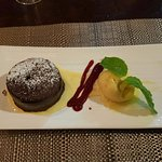 Chocolate molten cake thing , so so good!