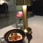 Amazing dinner. With art in dinner n food is so good😊 feeling like👑