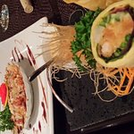 Poutine ! Salade et coquille de fruits de mer