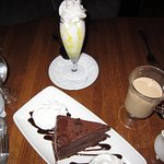 Limoncello Parfait and Dark Chocolate Cake! Yum!