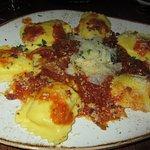 Four-cheese Ravioli! Oh so good!