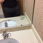 Chipped bathroom mirror