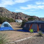 Camping at Mesquite camp area