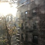 Nice and sunny autumn, view from the room