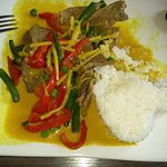 Green Curry Beef (sorry, I tucked in before I remembered to take the pic)