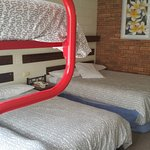 Family Room- Dbl bed, single bed & bunks (with safety rail)