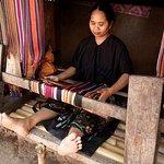 Lombok - Making Traditional Fabric as Souvenir