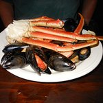 mussels and crab legs