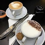 Cappuccino and Hot White Chocolate
