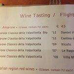 Amarone wine flight
