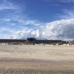 Hotel Tybee from the beach