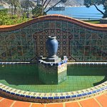 Adamson house fountain featuring Malibu tile