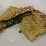 Florentine crepe, minus mushrooms