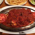 Mixed kebab and a Halep kebab