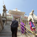 The steep steps leading up to the Jagdish Temple