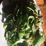 fresh greens in salad - scrummy!