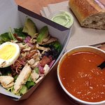 green goddess cobb salad + tomato soup