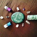 Blending Modalities... Acupressure, jade stone, chakra balancing and essential oils