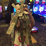 Winning tickets at the arcade!