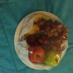 Um dos mimos que recebemos no quarto , frutas !!!